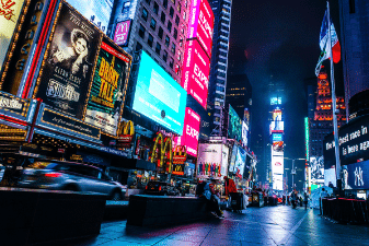 Visit Times Square on your New York City holiday from Ireland