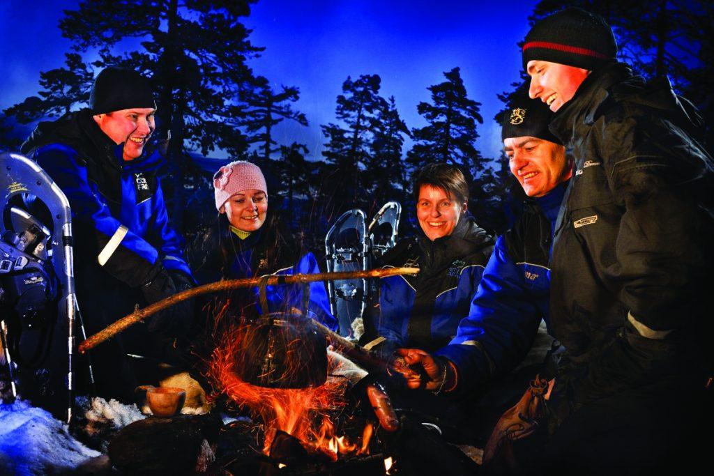 Fireside fun in Lapland