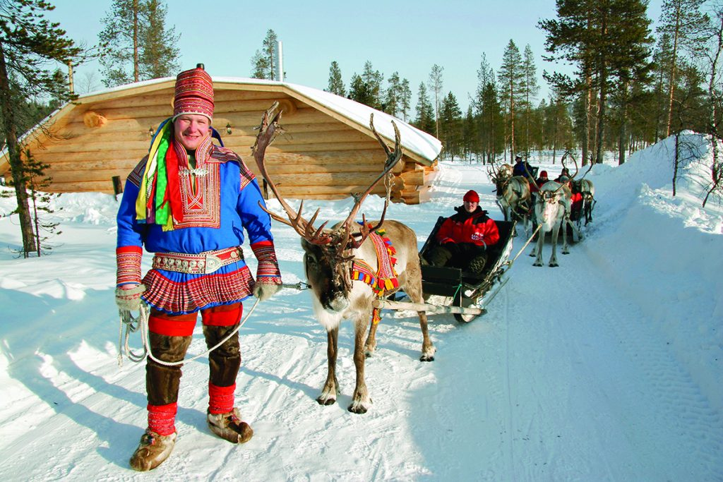 Fun in the snow in Lapland