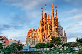 The Basílica de la Sagrada Família in Barcelona
